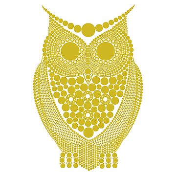 Golden Owl with Diamonds by DeLaFont