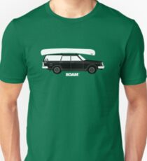 ROAM Volvo Granola Wagon with Canoe Slim Fit T-Shirt