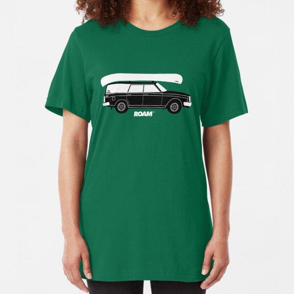 ROAM Volvo Granola Wagon with Canoe Slim Fit T-Shirt