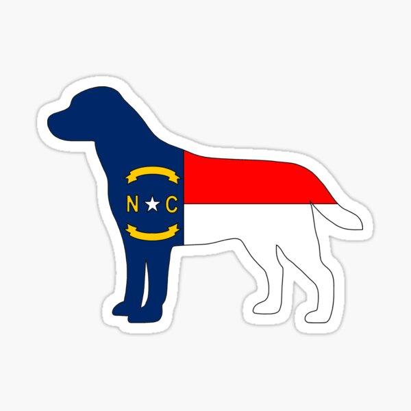 NC Flag Labrador Retriever  Sticker