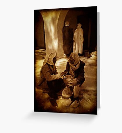 Double conversation Greeting Card