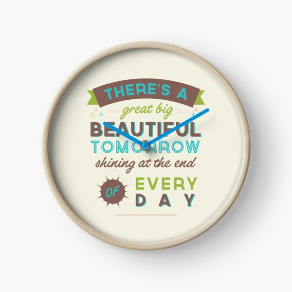 Beautiful Tomorrow (For light backgrounds) Clock