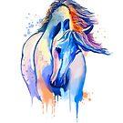 «Acuarela del caballo, pintura del caballo, retrato del caballo, arte del caballo, ilustración del caballo» de RomanDigitalArt