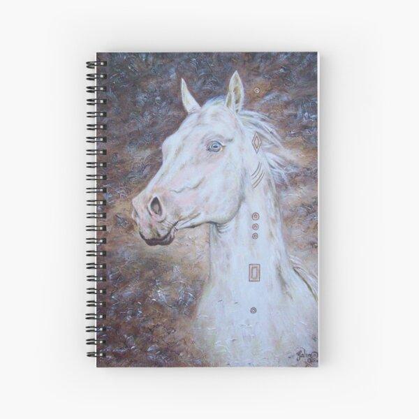 Habib Shael -- Akhal Teke Stallion Spiral Notebook