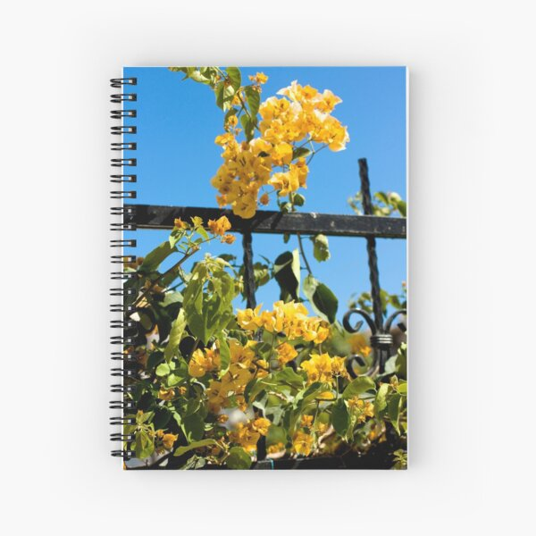 Yellow bougainvillea Spiral Notebook