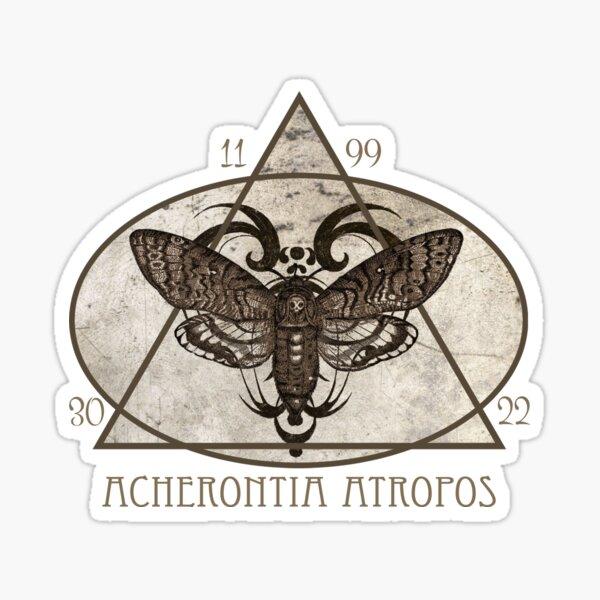 Death's head hawkmoth - Black Version Sticker