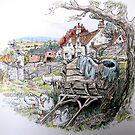 Old cart. by Robert David Gellion