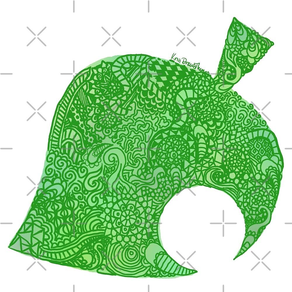 Tierkreuzung Neues Blatt Zentangle von krisdrawsthings