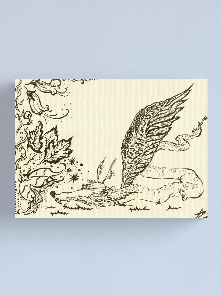 Alternate view of Dragon Canvas Print