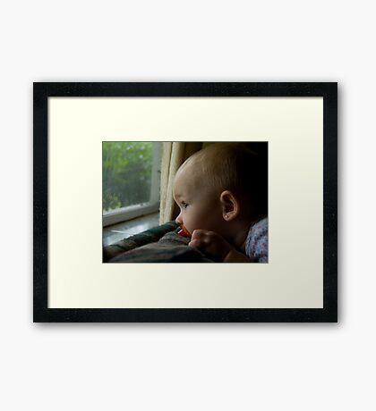 Rainy Day - color Framed Print