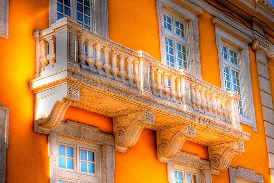 the guitar player balcony.... by terezadelpilar ~ art & architecture