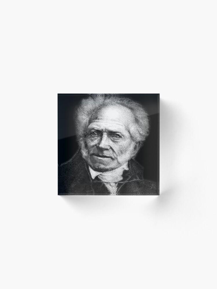 Alternate view of Arthur Schopenhauer Acrylic Block