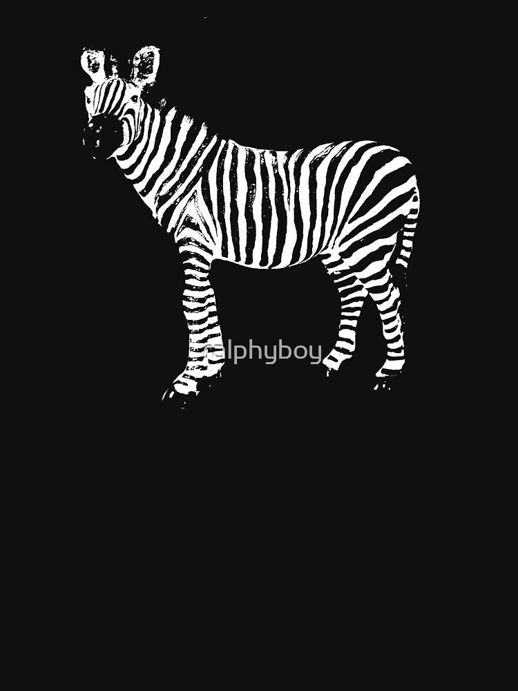 a zebra t-shirt by ralphyboy