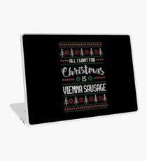 All I Want For Christmas Is Vienna Sausage Ugly Christmas Sweater Laptop Skin