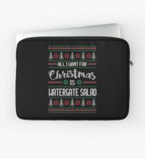 All I Want For Christmas Is Watergate Salad Ugly Christmas Sweater Laptop Sleeve