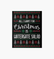 All I Want For Christmas Is Watergate Salad Ugly Christmas Sweater Art Board