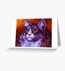 Longhair Cat Greeting Card