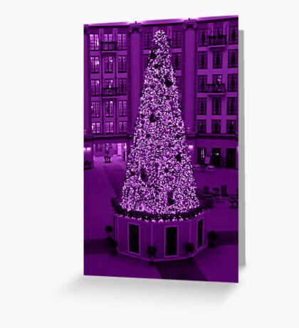 Christmas in Purple Greeting Card