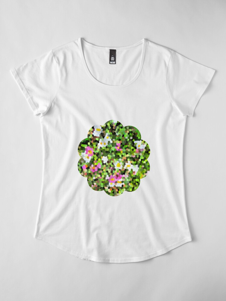 T-shirt premium femme ''Fleur vitrail #1': autre vue