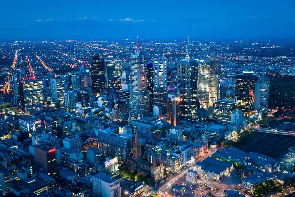 Melbourne Skyline by Mark Eden