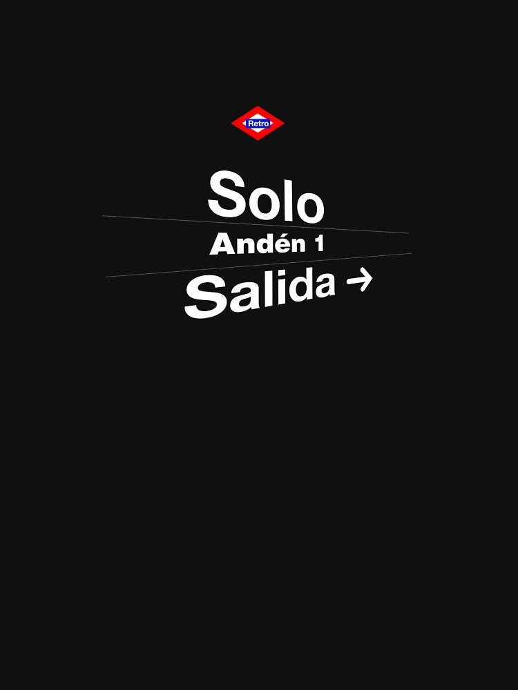 Solo, Madrid (Versión oscura) by redretro