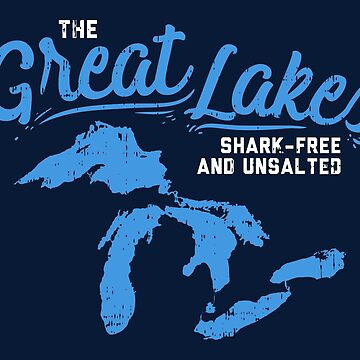 Lake The Great Lakes Silhouette USA Border Gift by Sandra78