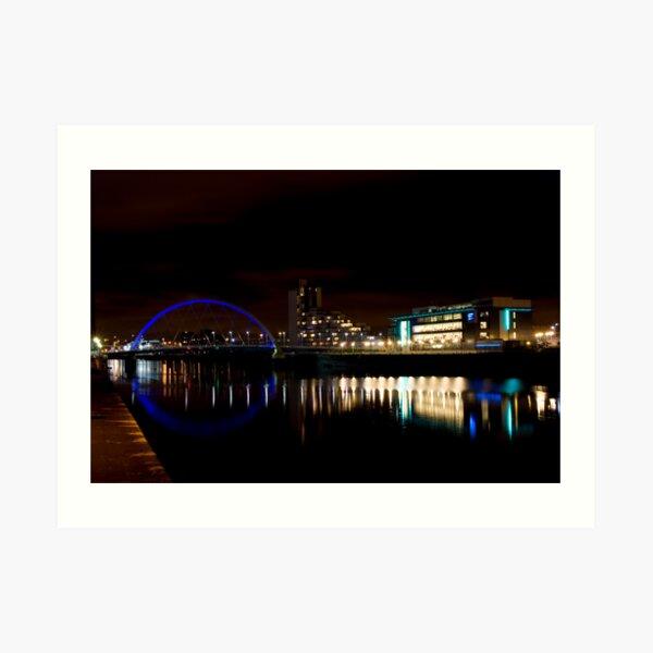 Glasgow Squinty Bridge Art Print