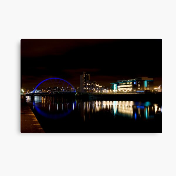 Glasgow Squinty Bridge Canvas Print