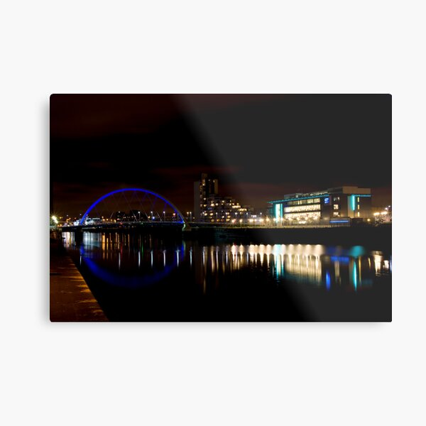 Glasgow Squinty Bridge Metal Print