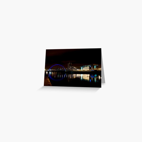 Glasgow Squinty Bridge Greeting Card