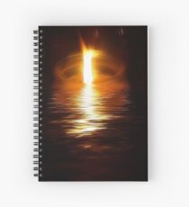 Flame On The Water Spiral Notebook