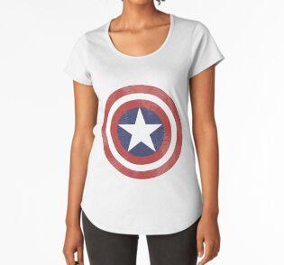 Camiseta premium de cuello ancho
