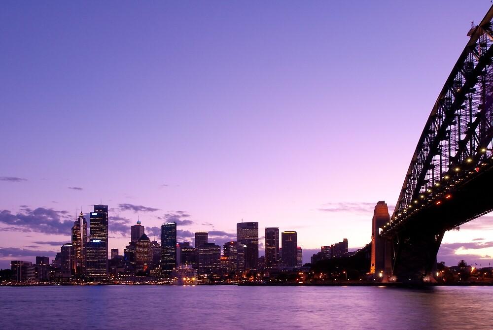 Sydney At Dusk by Mark Eden