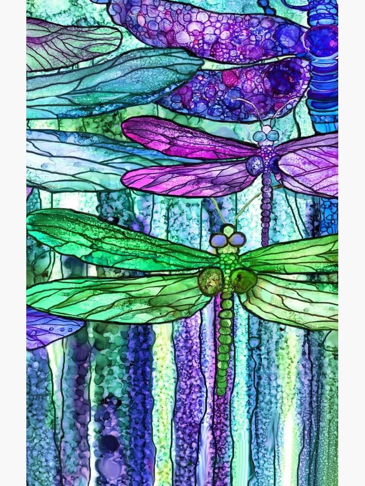 Dragonfly Bloomies 4 - Purple by carolcavalaris