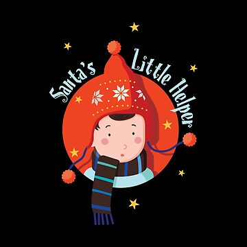 Santa Little Helper for Christmas - Cute Xmas Holiday by Ding-One
