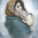 Die Madonna, Krippe, Mutter und Kind. von Irisangel