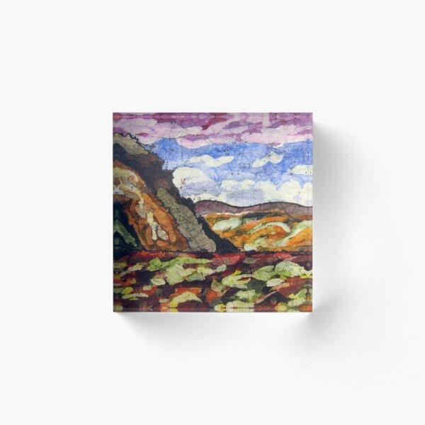 Landscape Scene batik Acrylic Block