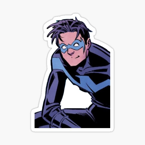 Happy blue boy Sticker