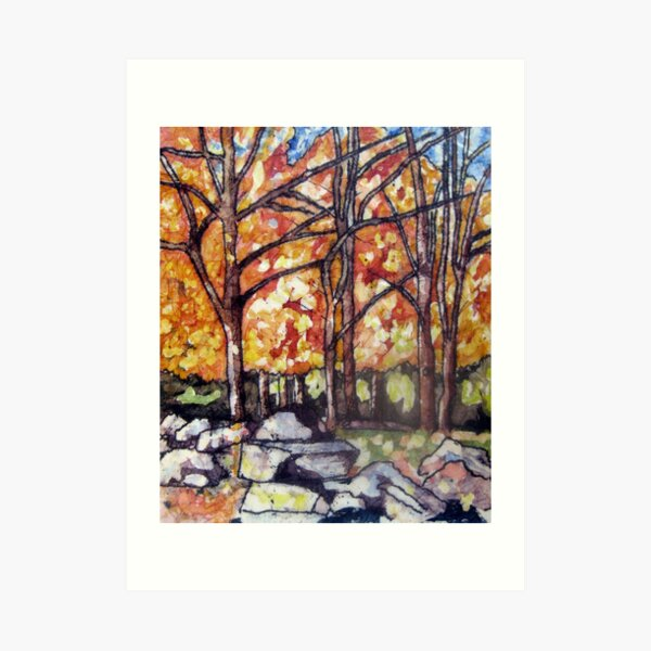 Haliburton Forest batik Art Print