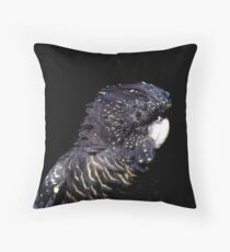 Red-Tailed Black Cockatoo II Throw Pillow