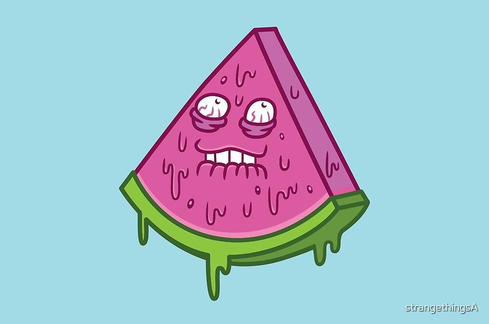 Juicy Watermelon by strangethingsA