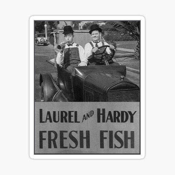 Laurel and Hardy - Fresh Fish Sticker