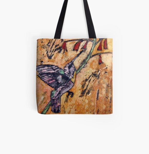 Hummingbird 2 Batik All Over Print Tote Bag