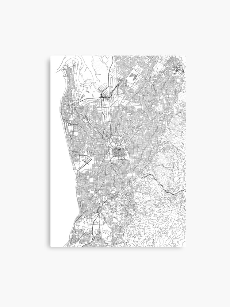 Australia Map Art.Adelaide Map Poster Print Wall Art South Australia Gift Printable Home And Nursery Modern Map Decor For Office Map Art Map Gifts Metal Print