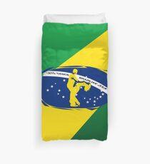 lets dance brazilian zouk flag color design Duvet Cover