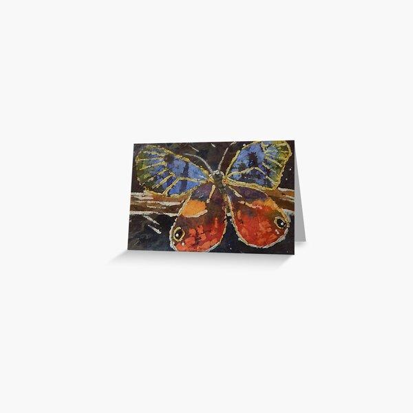 Butterfly Batik  Greeting Card