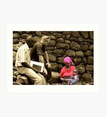 Aid Worker Art Print