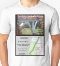 Double Arch Bridge on the Natchez Trace Parkway. Slim Fit T-Shirt