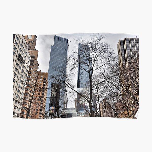 Twin Towers At Columbus Circle Poster