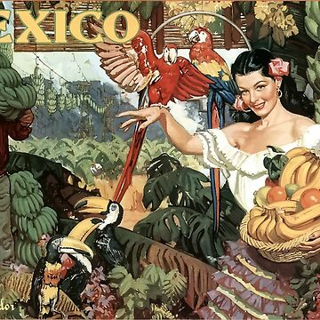 Vintage Travel Poster Mexico by G-Design